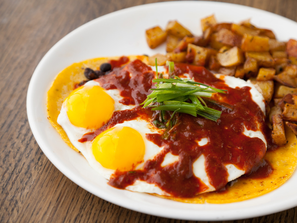 Start the day off right with a hearty plate of huevos rancheros at Lotus.