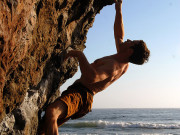 Bouldering at Mickey's Beach