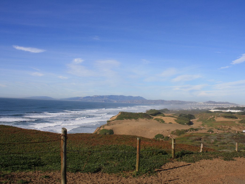 The bluffs of Fort Funston make a great halfway point.