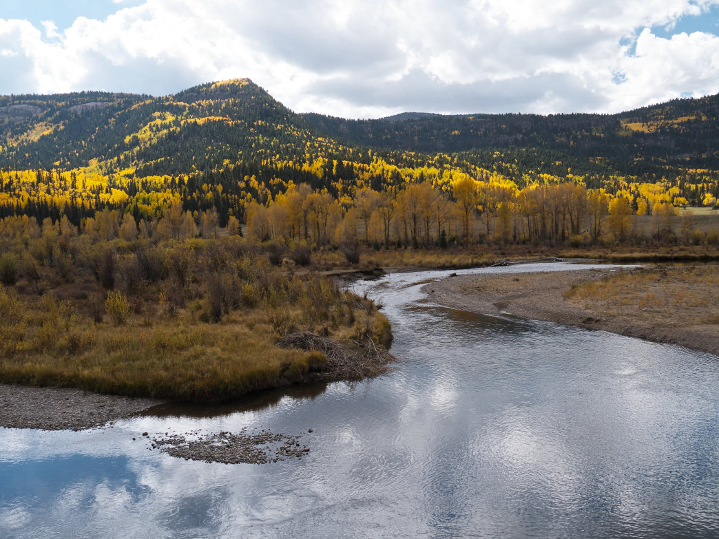 The views in the Conejos River Valley are gorgeous, and the fishing is pretty great, too.