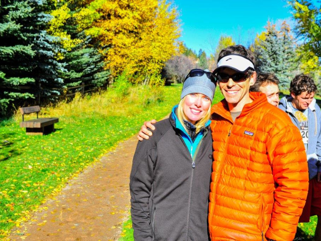 Lexi and Ray McNutt pose at the Aspen TNT, a race they founded to raise money for the Multiple Sclerosis Foundation.