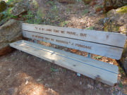 Burney Falls - Poetry Bench
