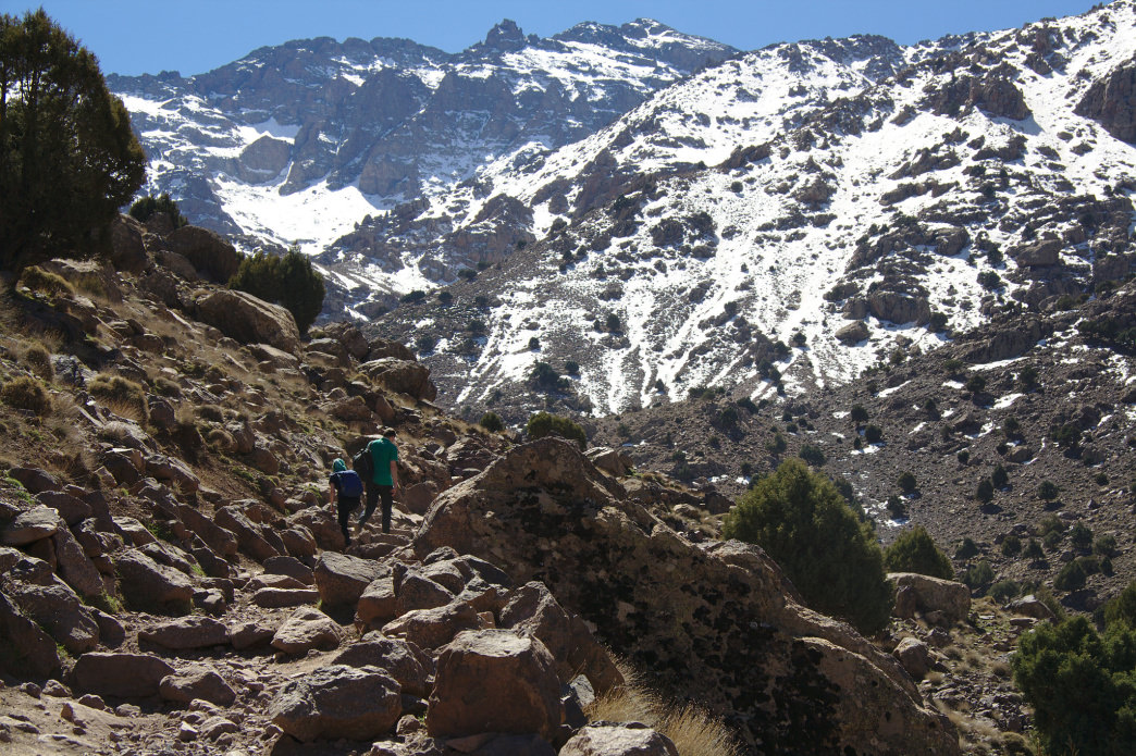 You can do some serious mountaineering in the Park National Toubkal.