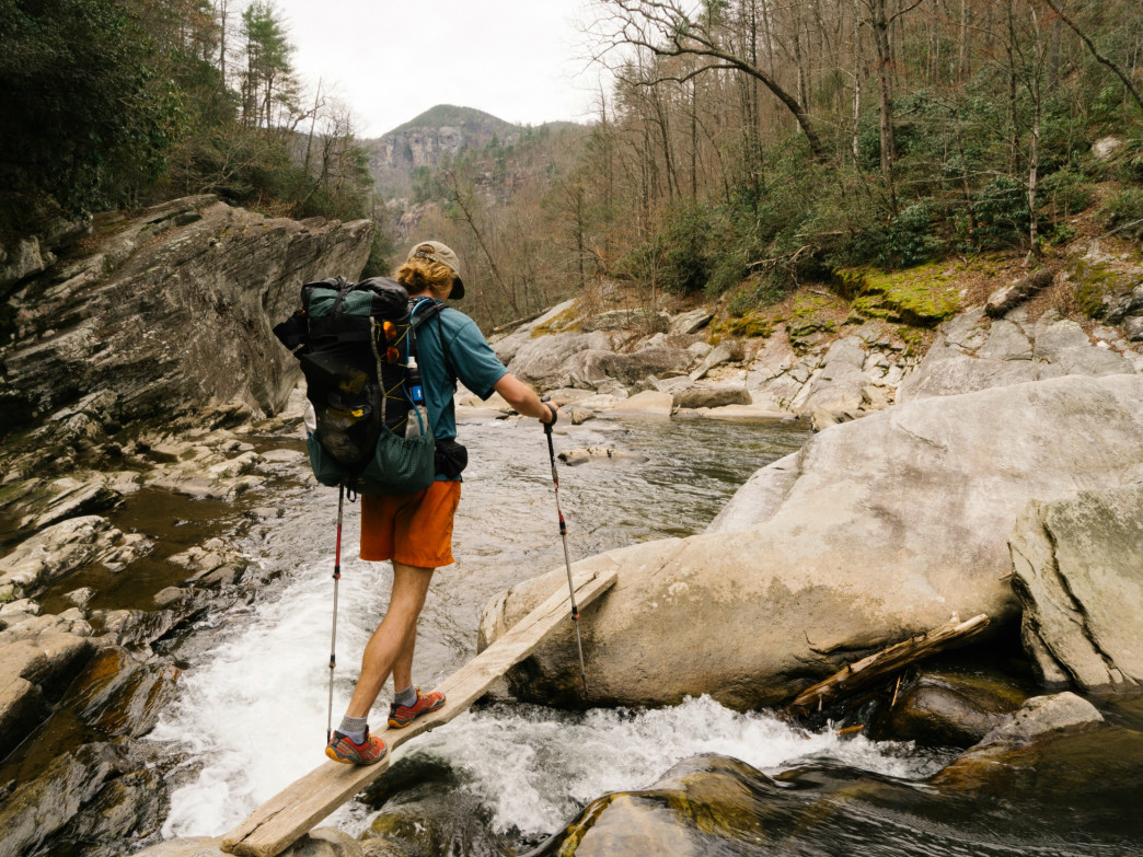 Backpacking the 22-mile Linville Gorge Loop.