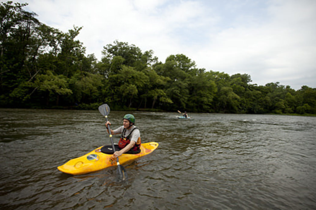 Paddling the French Broad Paddle Trail, Courtesy of Save the Float