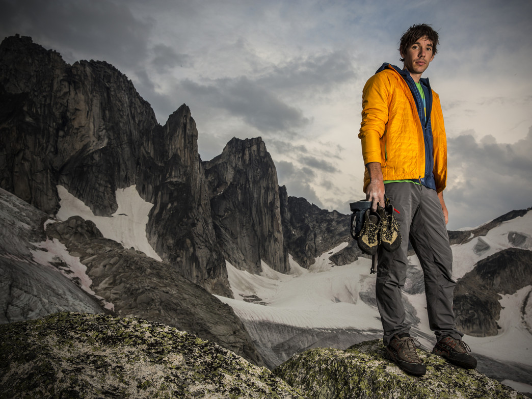 Honnold in the Bugaboos.