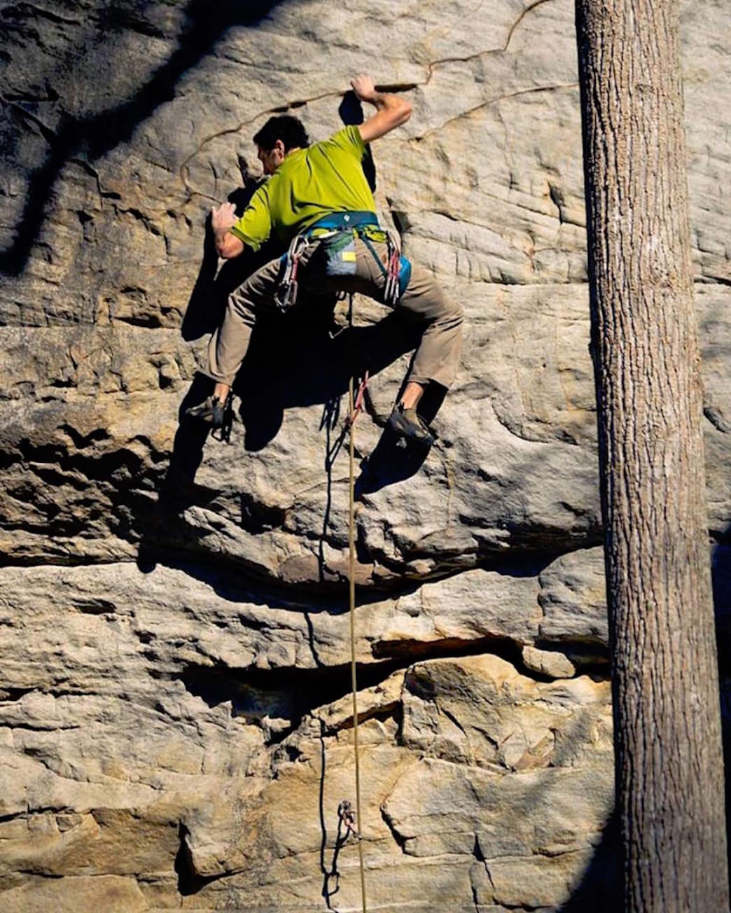 For Joe DeGaetano, it's all about the climbing.     Jared Musgrave