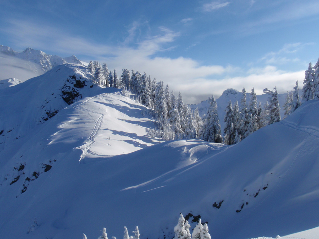 'The Arm' is quite possibly one of the most photographed backcountry ski shots in the country, and it's easy to see why.