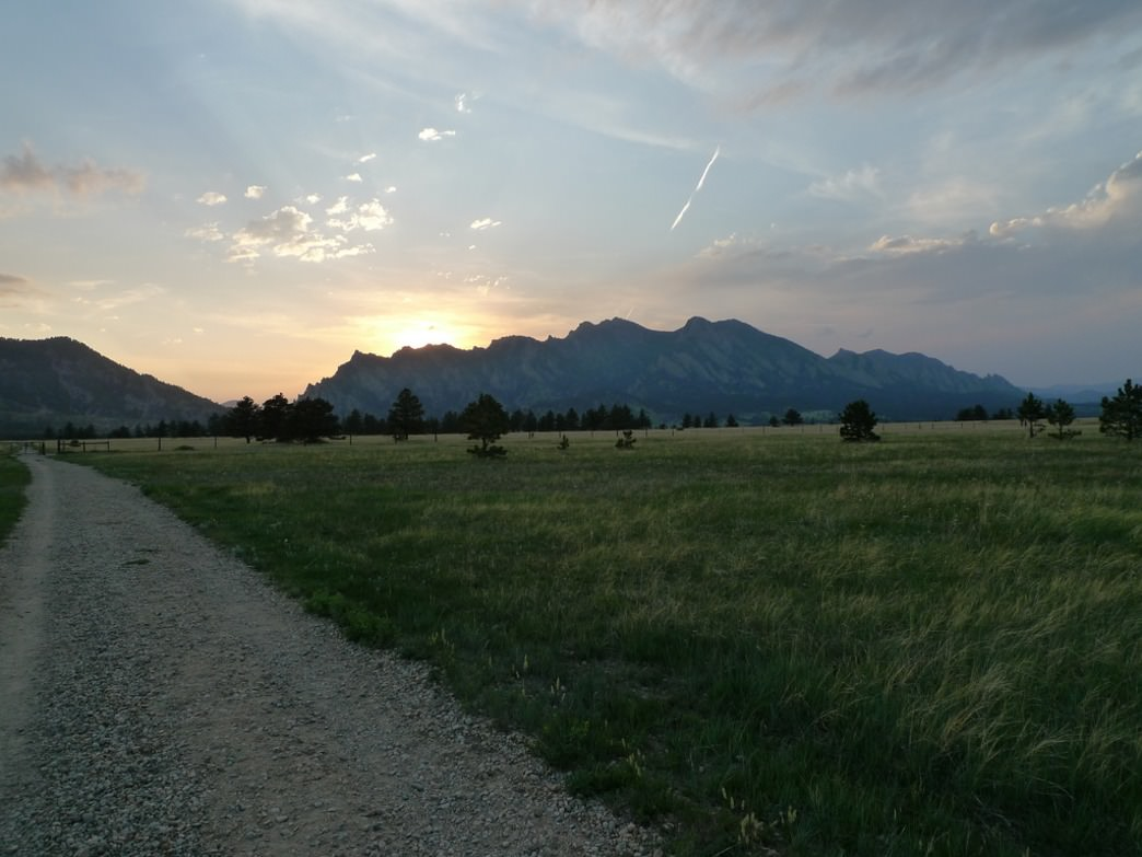 The Flatirons Vista Trail comes with aptly named views of the Flatirons.