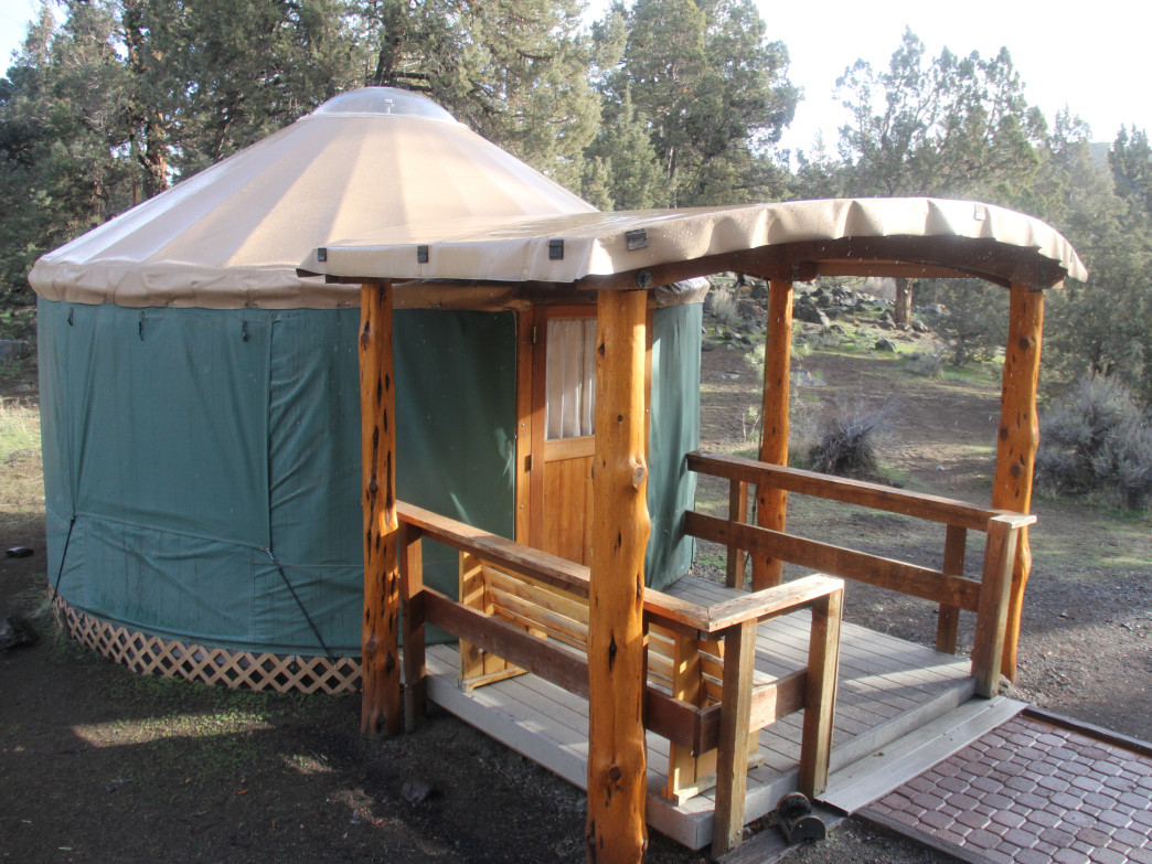 Tumalo State Park has seven yurts available.