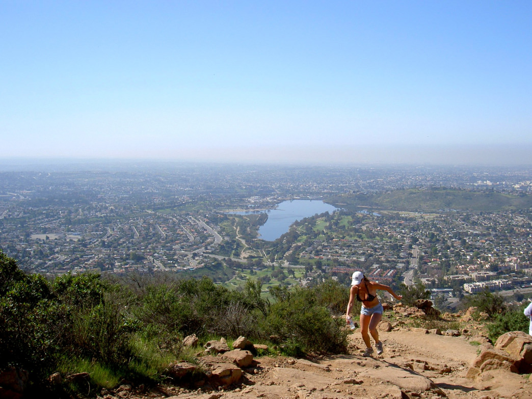 Running to the top of Cowles Mountain is a timeless San Diego tradition