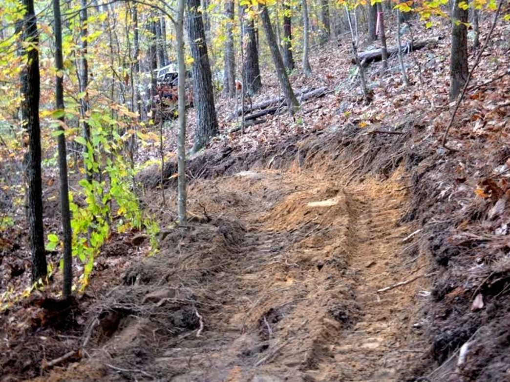 The majority of the trails are singletrack with various changes in elevation and contours to the landscape.