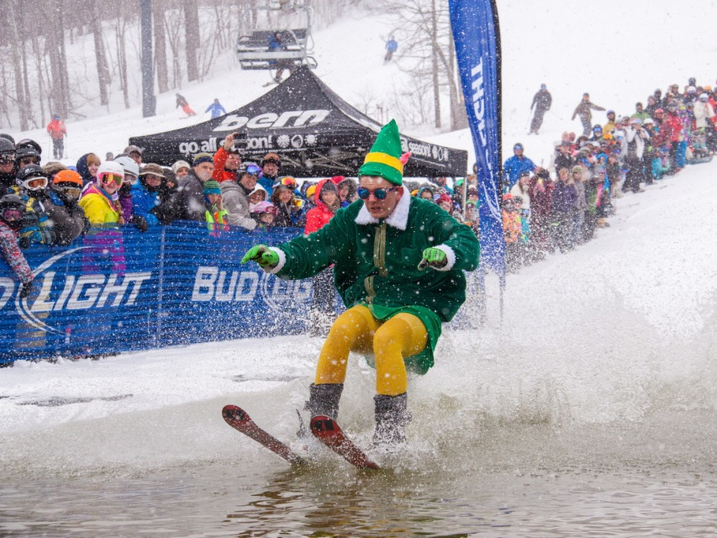 The party starts early at Mount Snow and generally can be counted on to go late.