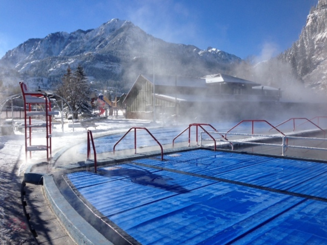 Ouray Hot Springs on a December morning.