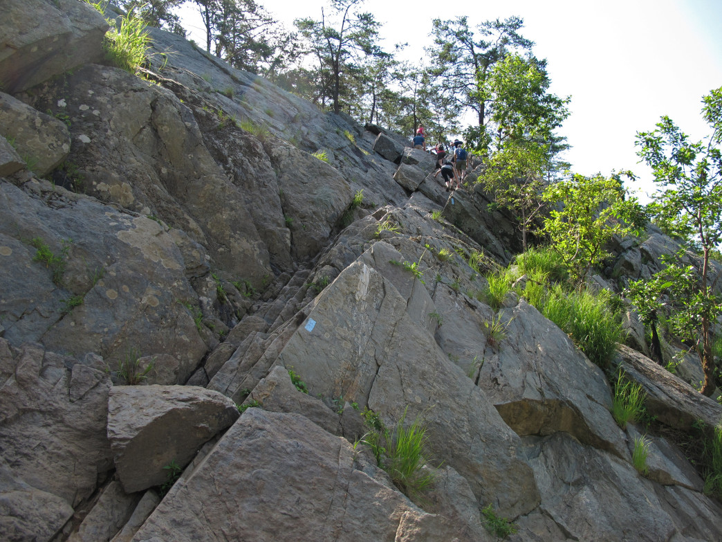 Climbing the Billy Goat Trail.