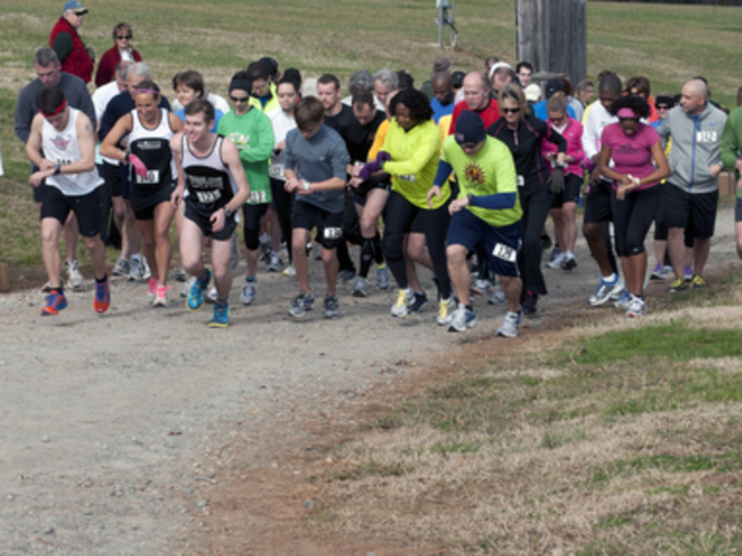The First Footin' Five Miler takes advantage of the historic beauty of Rural Hill.