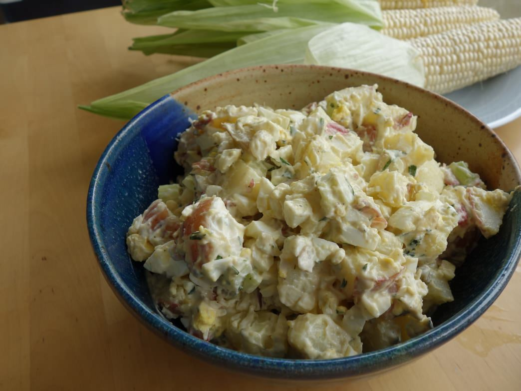 A summertime favorite, this potato salad can be great for camping trips too!