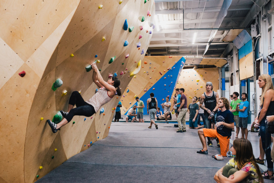 There's plenty of room for everyone, even when the gym is busy.     Birmingham Boulders