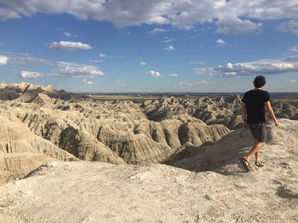 Exploring Badlands.