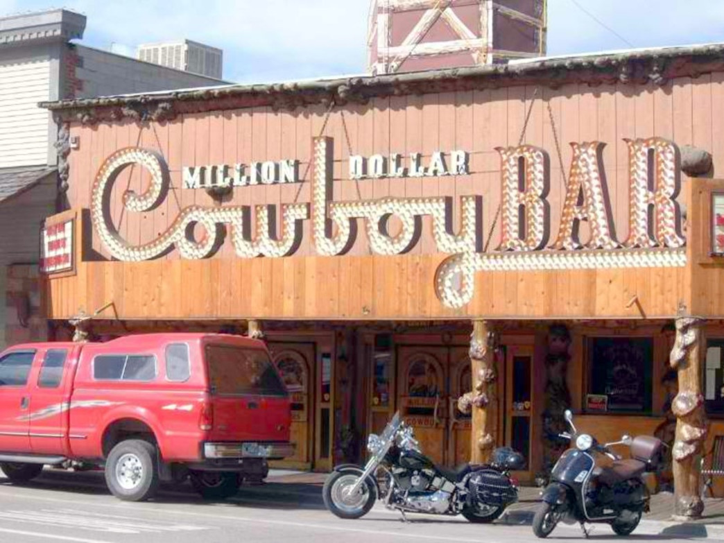 The Million Dollar Cowboy Bar is a quintessential Western watering hole.