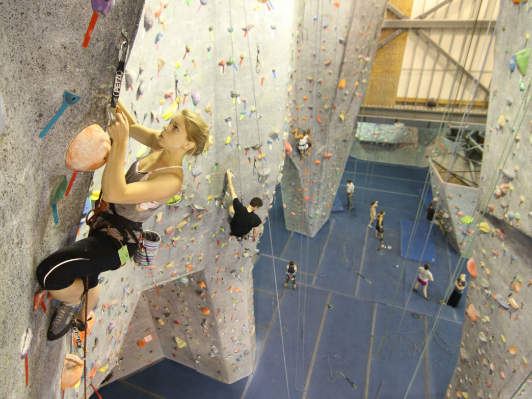 Some of the walls at Sportrock are 43 feet high. Photo: