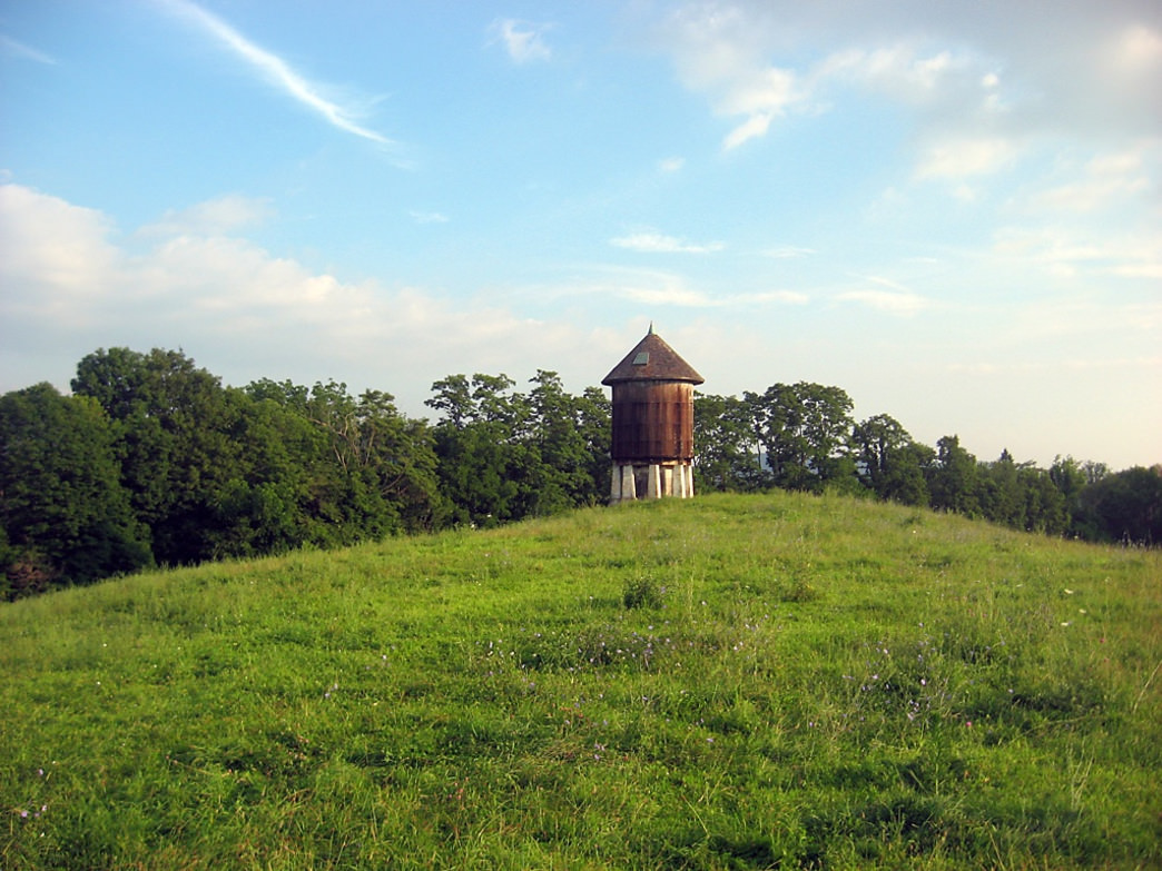 A water tower just north of the Metro-North Trailhead on the Appalachian Trail.