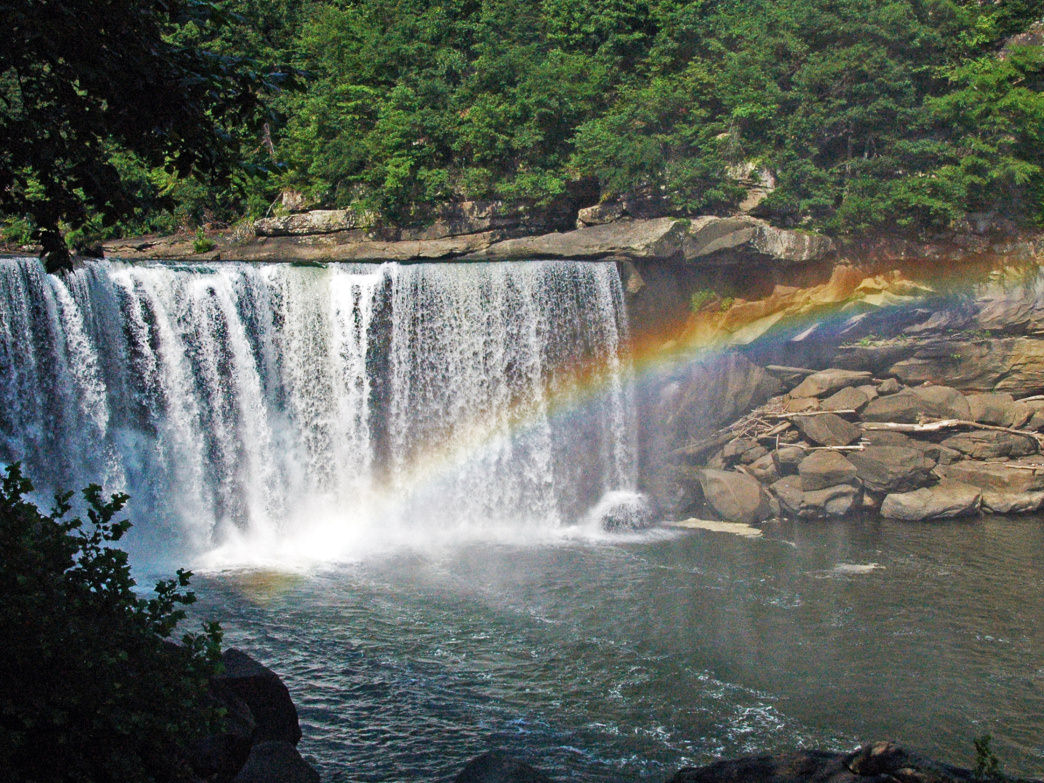 Cumberland Falls is one of the most iconic waterfalls in Kentucky, and is a must-see.