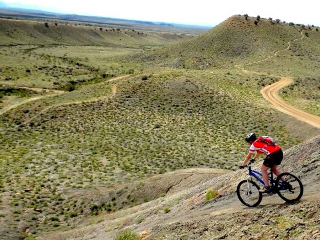 A rider cruises down Zippity-Doo-Dah, one of the many highlights of Fruita.