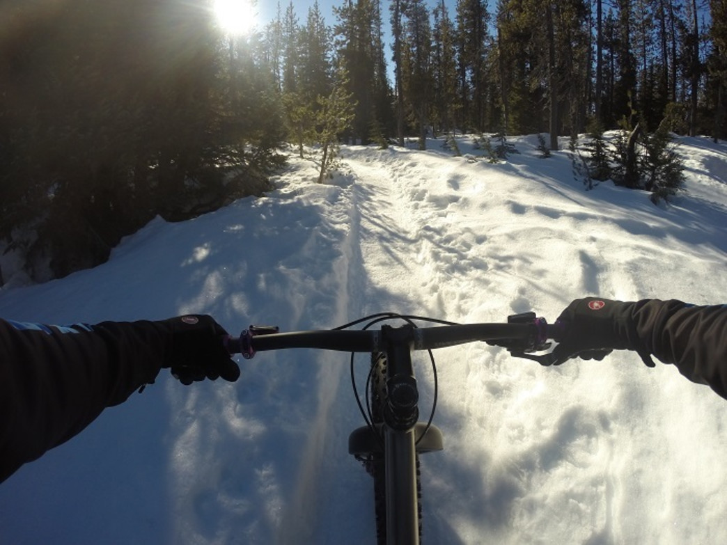 Fat biking cyclists should ensure they have the right gear—including gloves and a reliable bike—before hitting the trails.
