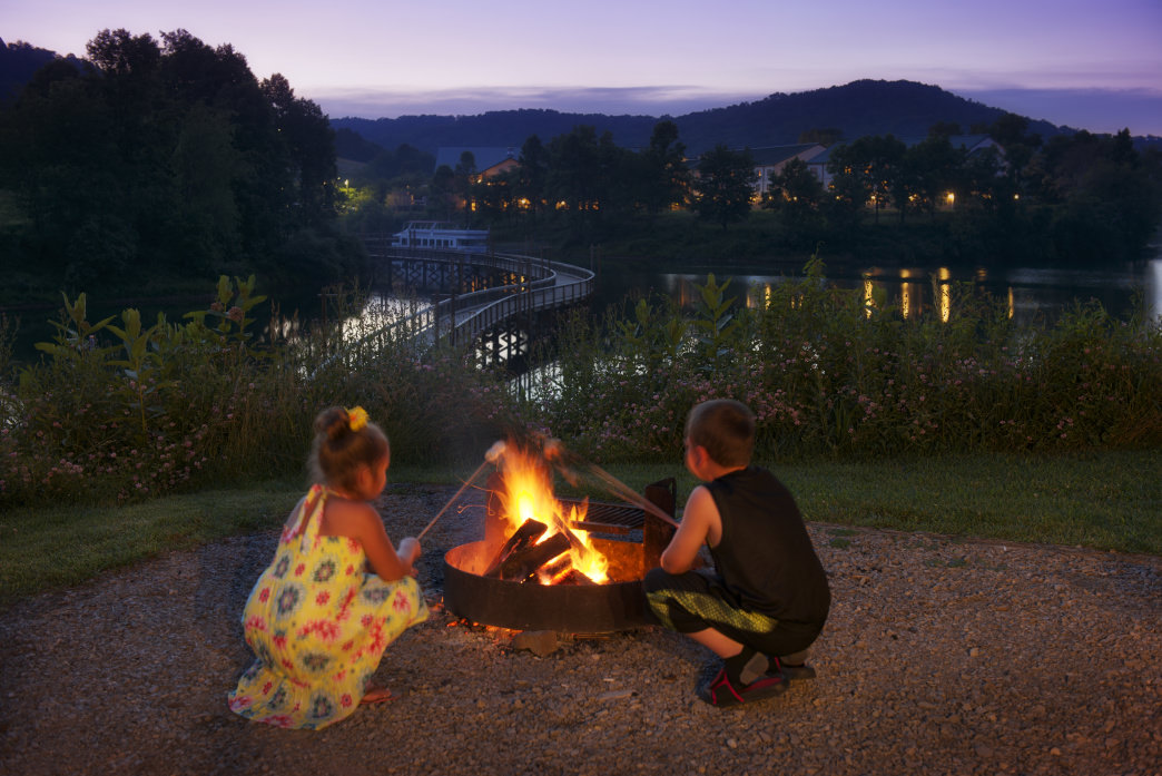 Toast marshmallows over an open fire with an amazing view.     Chris Audia