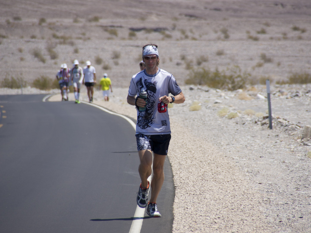 Nathan Leehan showing proper form mid-100 mile race