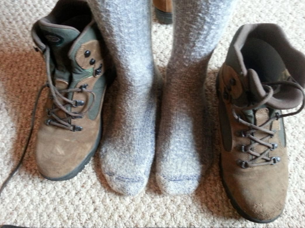 Remember that you can fine-tune the fit of a shoe by using socks to occupy space.