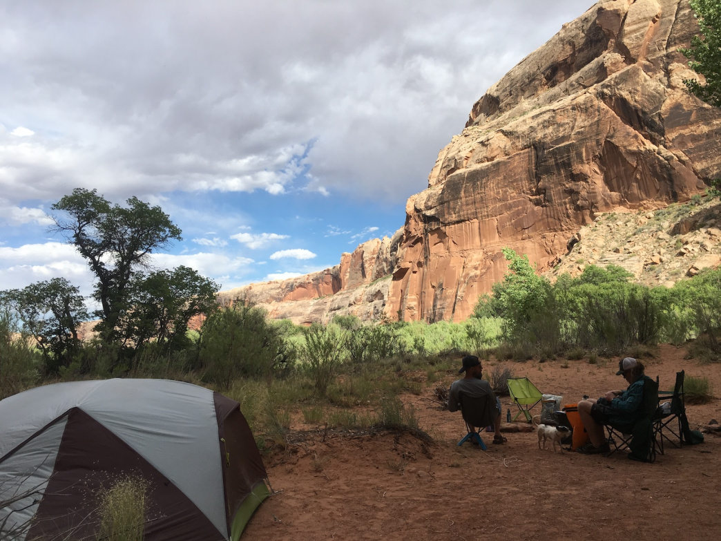 Three Canyon is a popular spot to camp. High water makes it possible to paddle up the side stream to get to a quiet spot.
