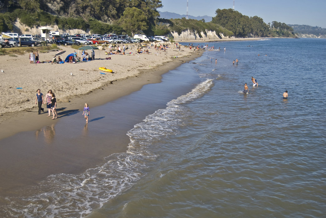 Goleta Beach offers free parking just off the beach, making it a breeze to tow your kids and supplies.