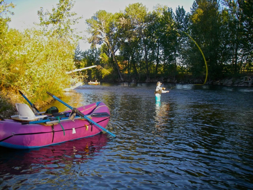 The Boise River right in town is one of the best fall-colors floats because of the array of trees throughout Boise's park system.