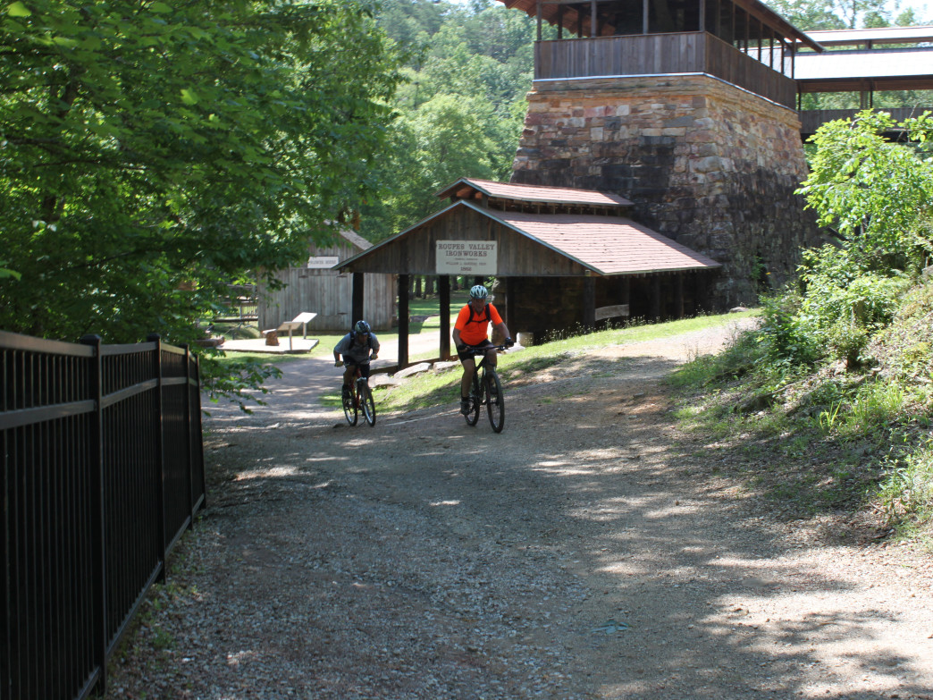 Past the beautiful historical buildings at Tannehill, mountain bike trails beg to be explored.