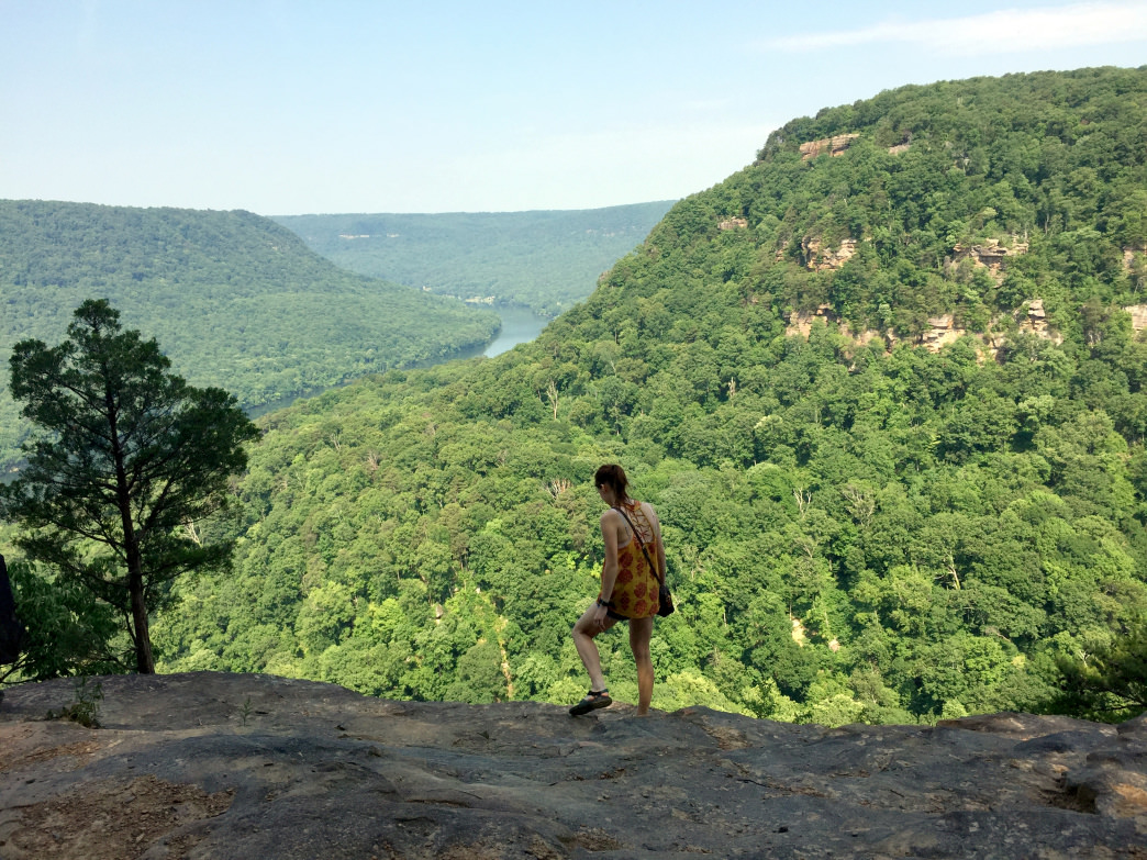 The Julia Falls Overlook is one stop along the Signal Point Trail. Mariel Groppe