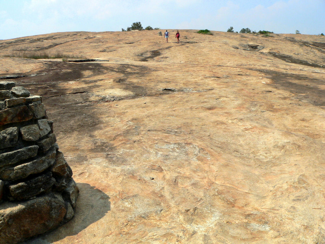 The exposed rock of Arabia Mountain creates a moon-like landscape that's unlike anything else in Georgia.