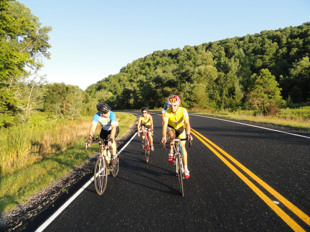 The Apple Blossom Loop is a popular after-work ride for locals.