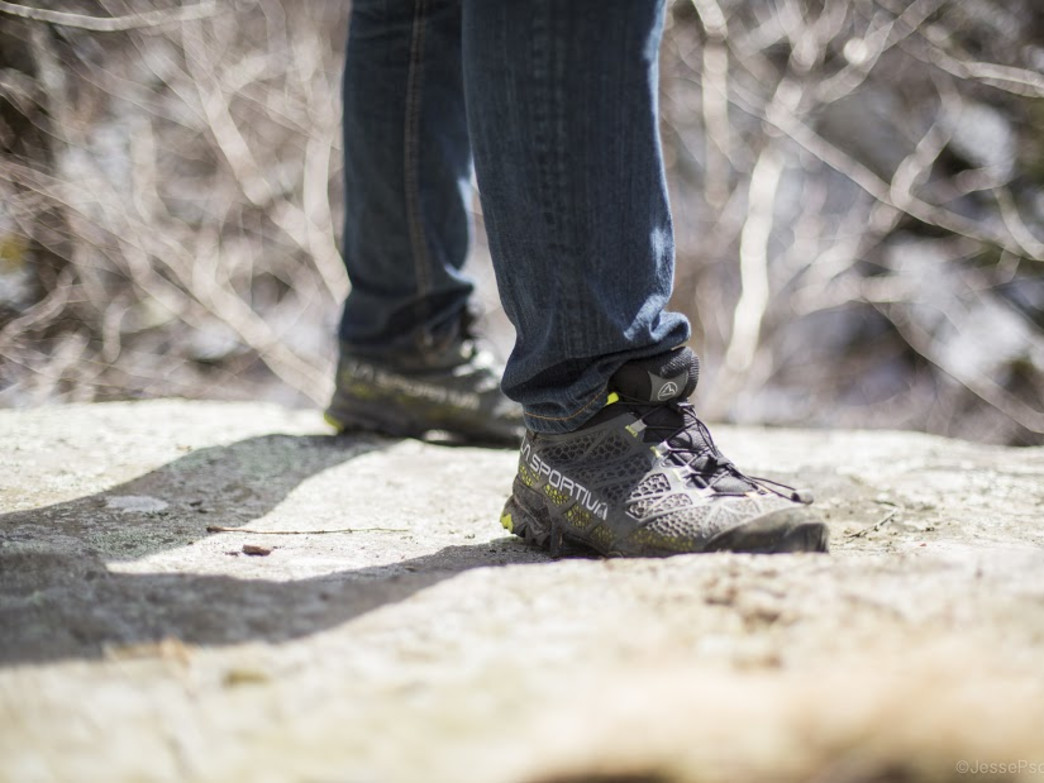 A reliable shoe by La Sportiva will get you safely across Devil's Path.