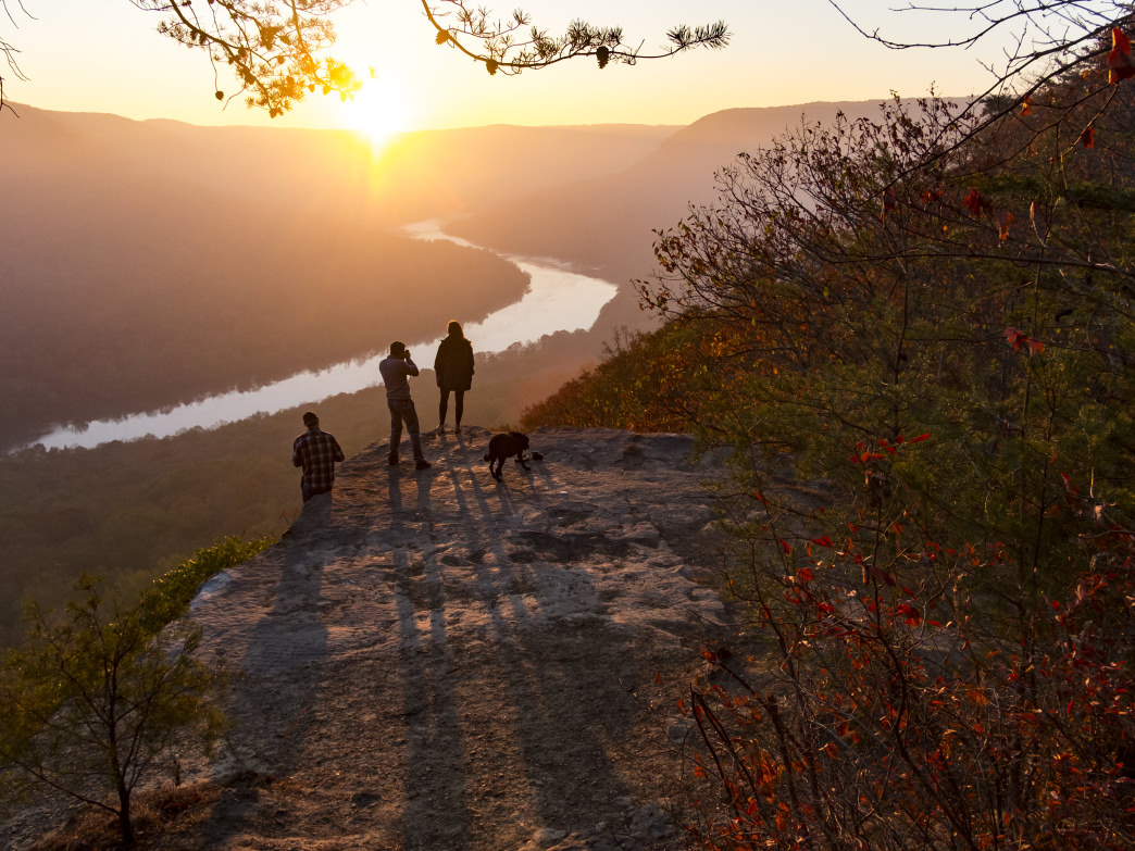 Fall is one of the prettiest times to visit Chattanooga, as you can see from this view at Snoopers Rock.