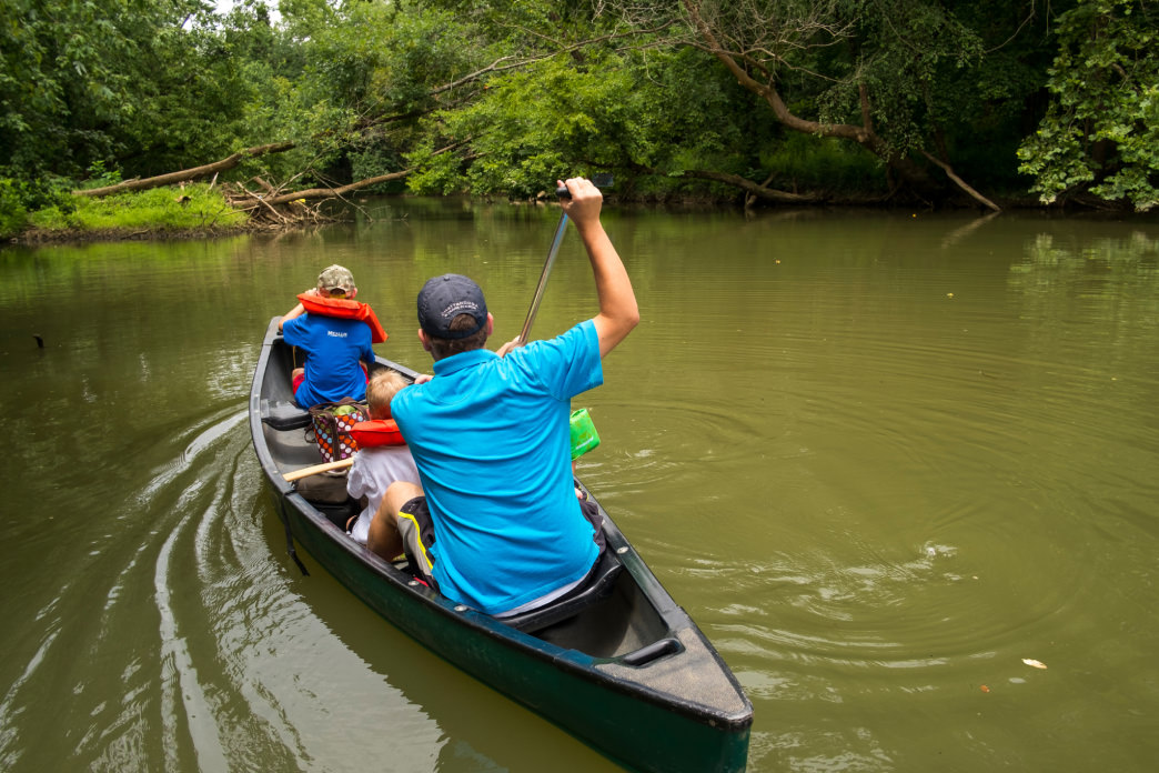 Lookout Creek is a popular spot for canoeing and kayaking.