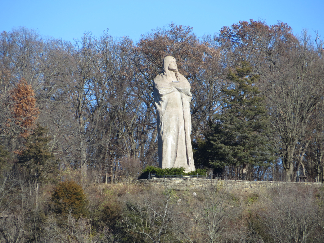 The Black Hawk statue at Lowden State Park, home of the Rugged River Four-Mile Trail Race.