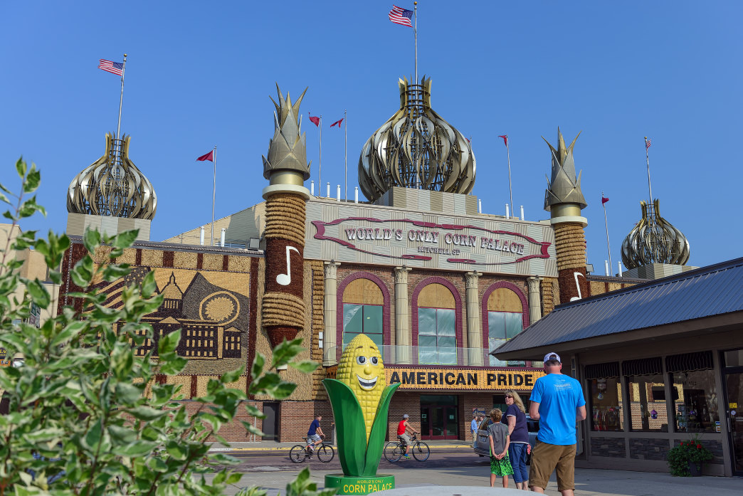 A visit to South Dakota wouldn't be complete without stopping at the  Mitchell Corn Palace.