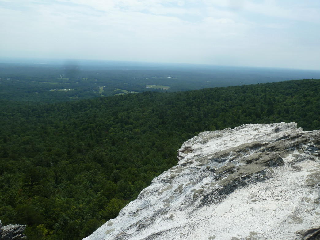 The stone outcrop at Hanging Rock provides classic Carolina views