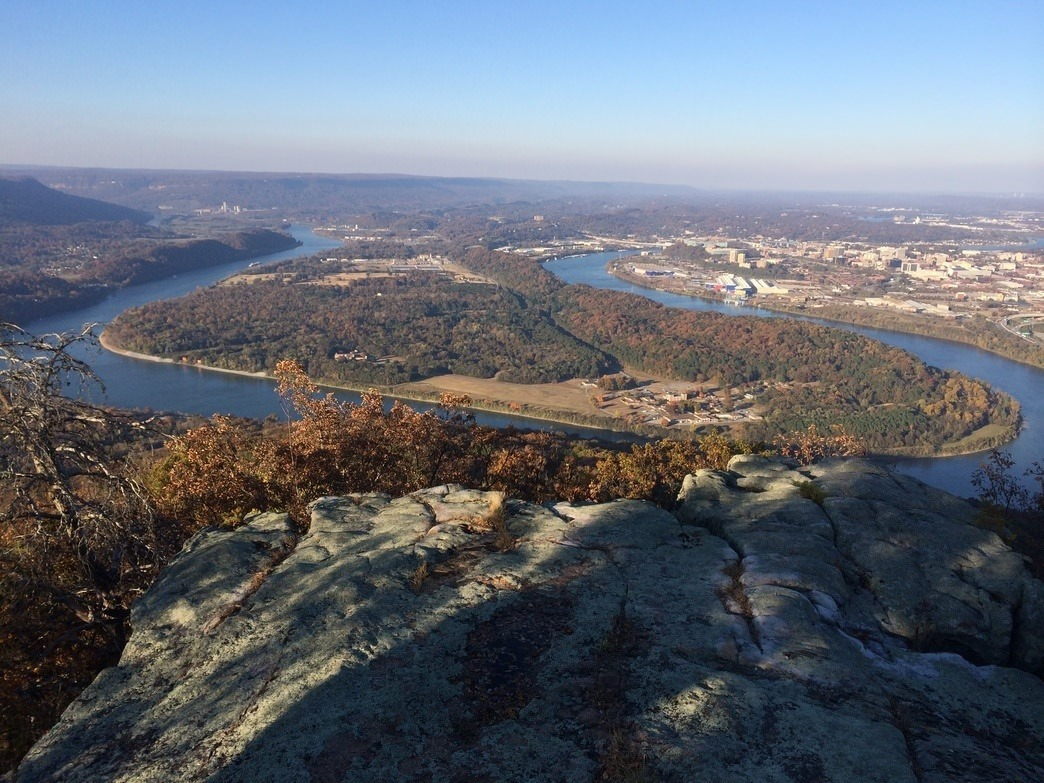 A view of Moccasin Bend from Lookout Mountain.