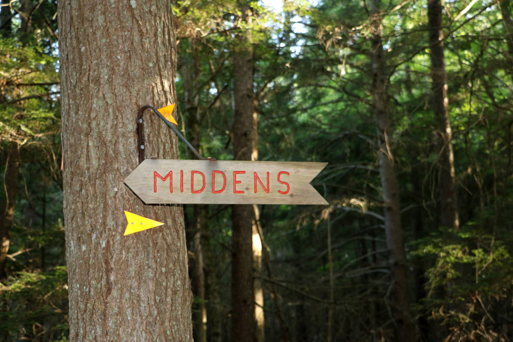 The Glidden Midden is a neat archaeological site to see on the Salt Bay Heritage Trail.
