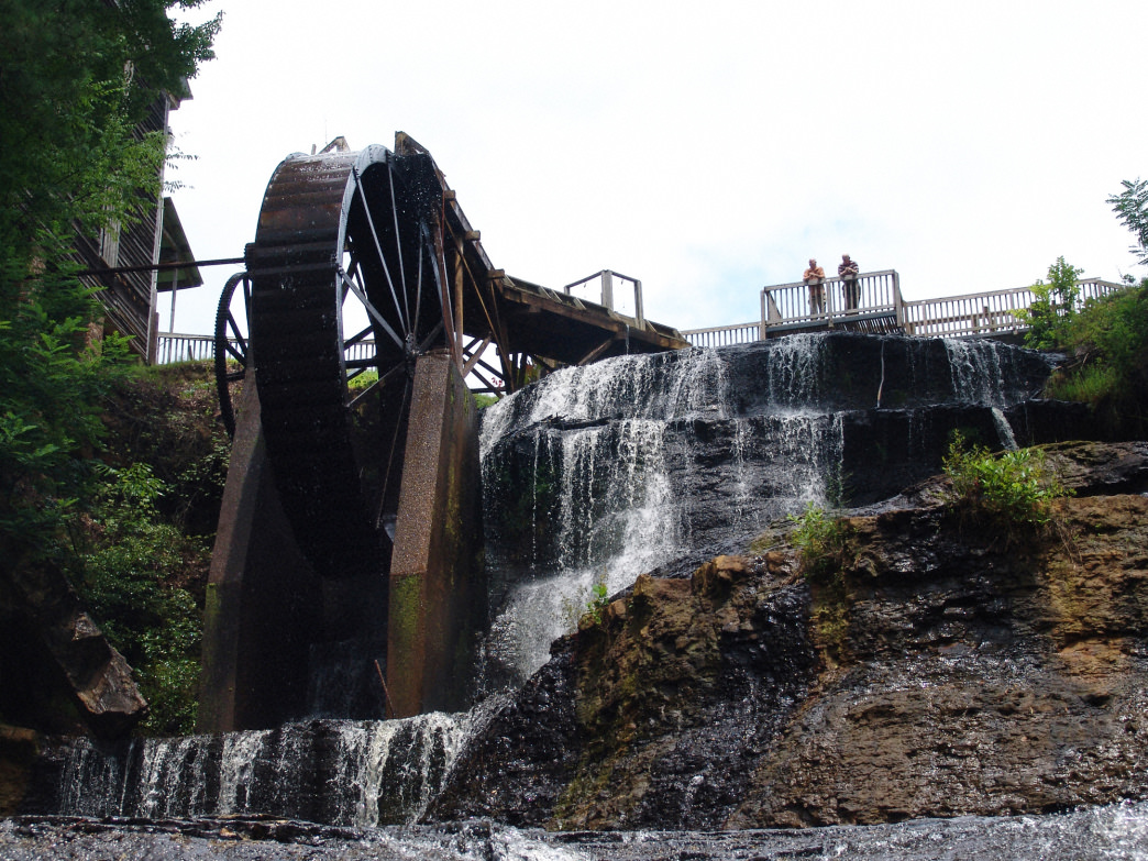 Dunn's Falls is a 65-foot waterfall was once used as a power source.