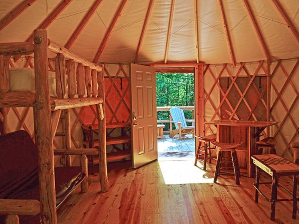 Interior Of The Yurts At Georgia State Parks