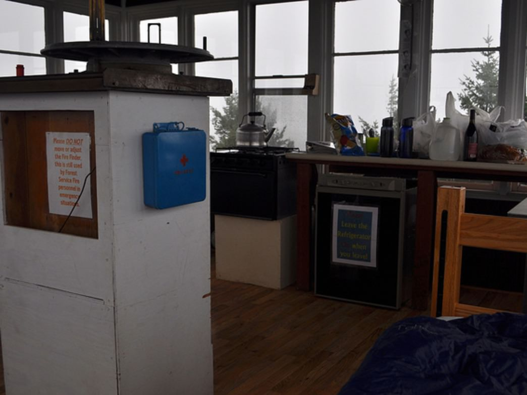 Fire lookouts offer varying amenities, including beds and stoves.